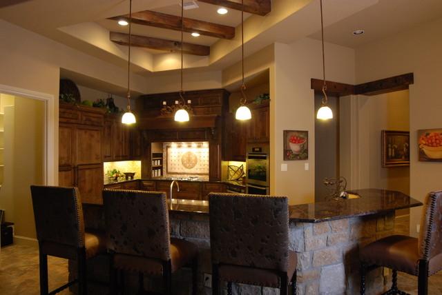 Ceiling Treatments by Stadler Custom Homes mediterranean-kitchen