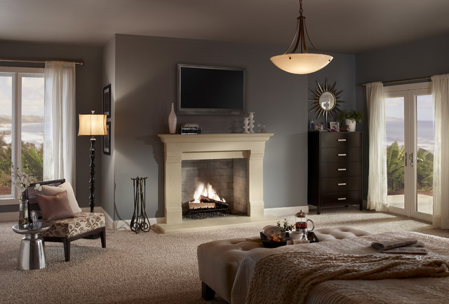 Decorating Ideas # Contemporary Fireplaces