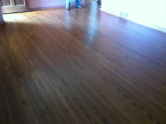 Restain wood floor