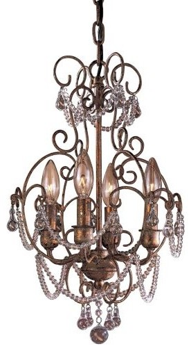 Mini Crystal Chandelier No. 3129 by Minka-Lavery traditional-chandeliers