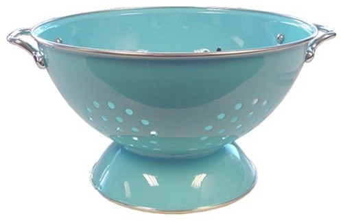 Reston Lloyd Calypso Basics 5 Quart Colander, Turquoise modern kitchen tools