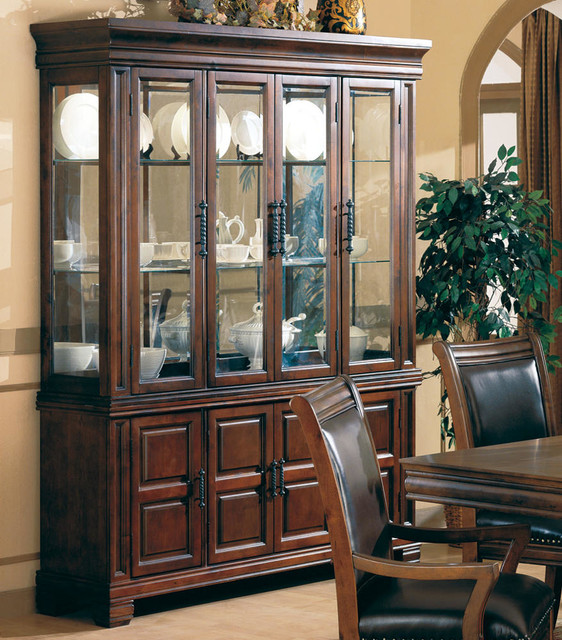 Westminister Collection Hutch & Buffet (China) in Cherry - Modern - Buffets And Sideboards - by ...