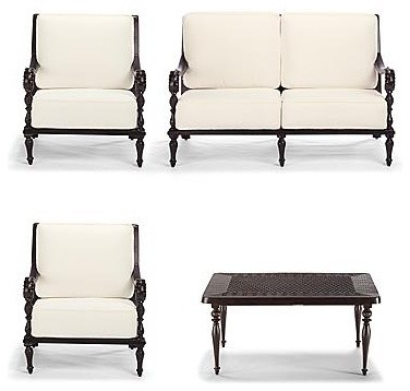 British Colonial 4-pc. Loveseat Set - Frontgate - traditional ...