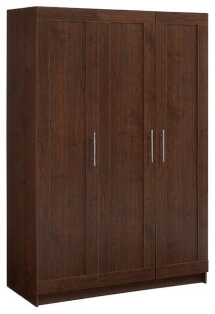 akadaHOME Tall 3 Door Framed Wardrobe Cabinet - Modern - Storage Cabinets - by Hayneedle