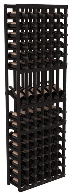 6 Column Display Row Wine Cellar Kit in Redwood, Black contemporary-wine-racks