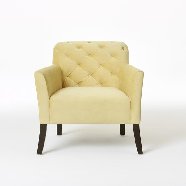 Elton Chair, Dandelion Performance Velvet traditional-chairs