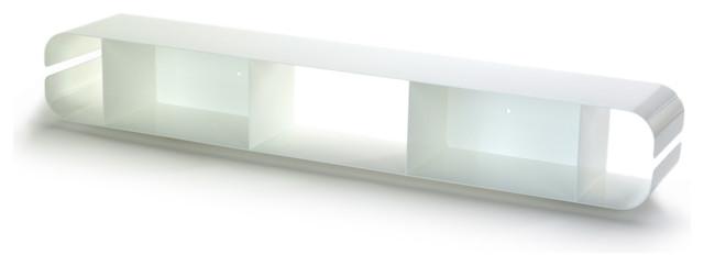 OFFI Duoplane CD Shelf - color: white modern-media-storage
