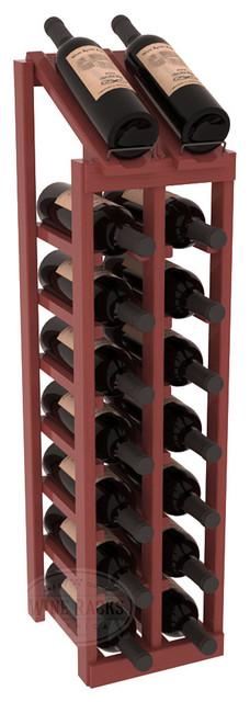 2 Column 8 Row Display Top Kit in Pine, Cherry Stain + Satin Finish contemporary-wine-racks