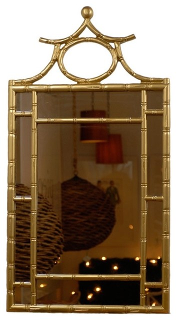 Gold Pagoda Mirror Asian Wall Mirrors By Pieces