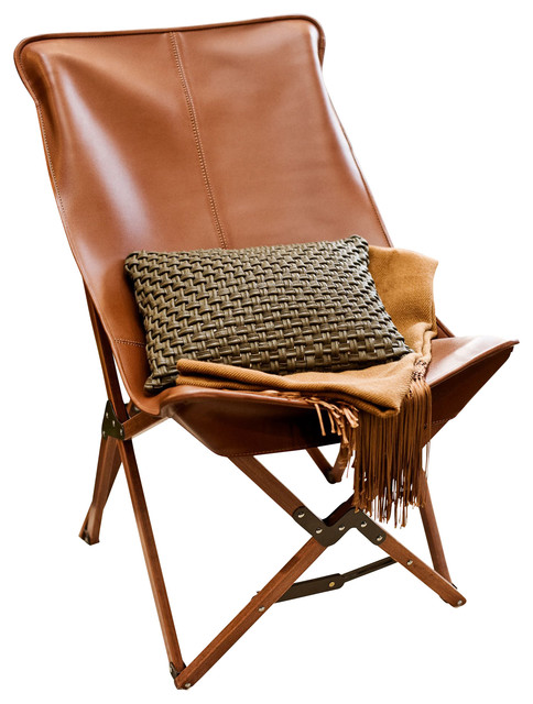 Tripolina Chair, Brown, Leather contemporary-chairs