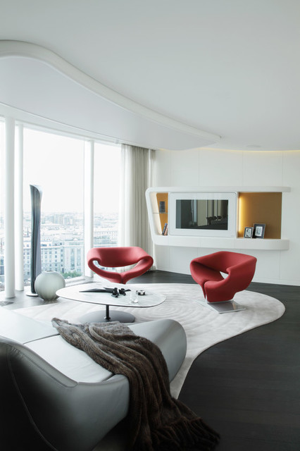 Artifort Ribbon Chairs in St. Petersburg Penthouse modern-armchairs-and-accent-chairs