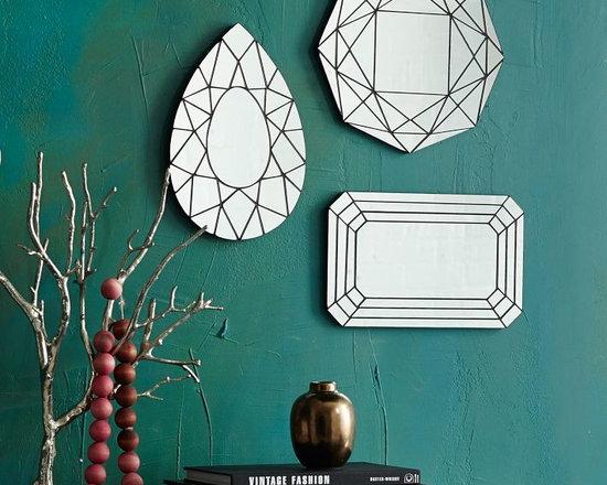Gem Cutout Mirrors, Set of 3 -