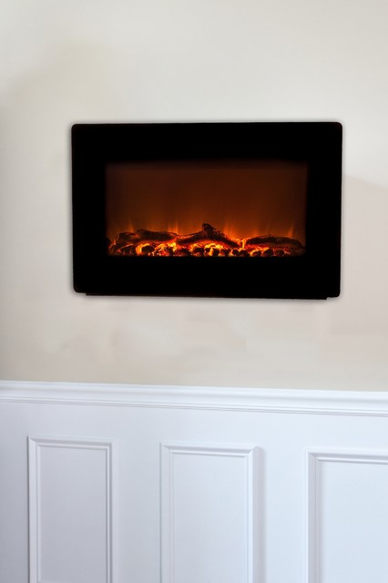 Black Wall Mounted Electric Fireplace fireplaces