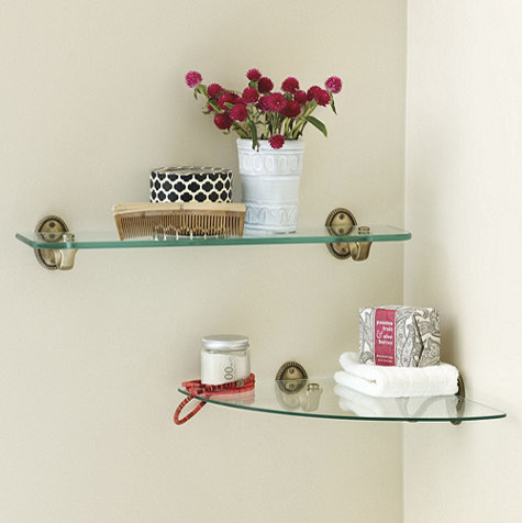 Beaded Bath Glass Shelf Traditional Display And Wall Shelves By Ballard Designs