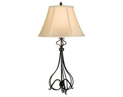 Bronze Table Lamp: Wallis 32 in. Burnished Bronze Table Lamp 32189BB contemporary-table-lamps