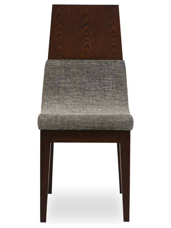 Bryght - Lavender Fabric Upholstered Dining Chair - The Lavender dining chair with its unmatched innovative design is sure to lend a mid century modern air to your dining room decor. This well crafted piece offers you the combined luxury of a cushioned as well as a thick and sturdy wooden back, gently curved to envelope you every time you sit. The Lavender dining chair is ideal for everyday use and longer sittings alike.