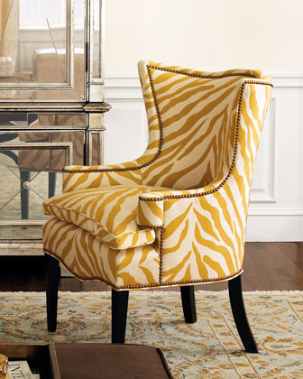 """Sunflower Zebra"" Chair traditional-armchairs"