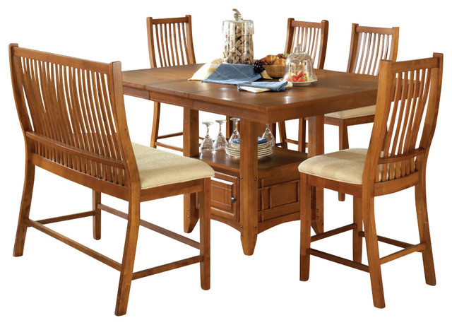 Steve Silver Tulsa 6 Piece 48x48 Counter Height Set Contemporary Dining Sets By Efurniture