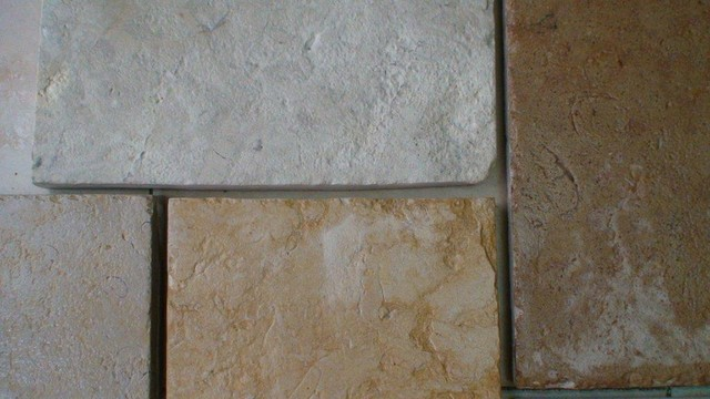 Aged Jerusalem Stone Rectangles and Random Pattern mediterranean-wall-and-floor-tile
