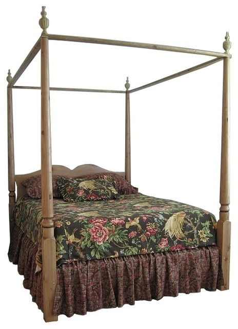 4 poster canopy double bed w removable finials french