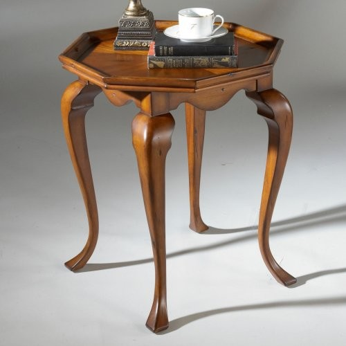 Butler Accent Table 25H in. - Old World Cherry traditional side tables and accent tables