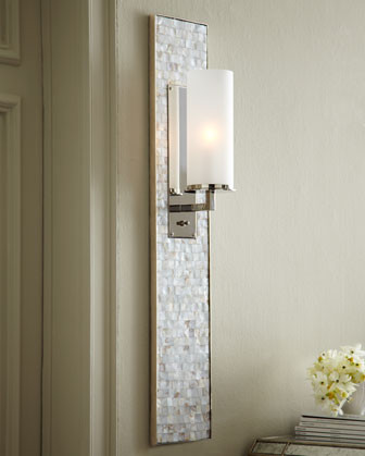 Mother-of-Pearl Panel Sconce contemporary wall sconces