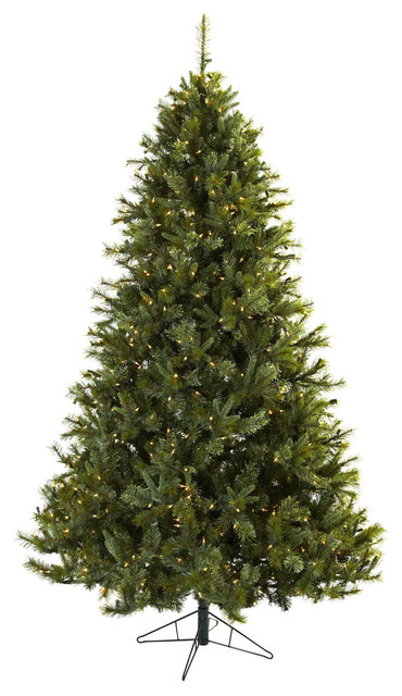 7.5-foot Majestic Multi-pine Christmas Tree with Clear Lights contemporary-holiday-decorations