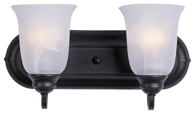 Maxim Lighting 7136Mroi Essentials 2-Light Bath Vanity transitional-bathroom-lighting-and-vanity-lighting