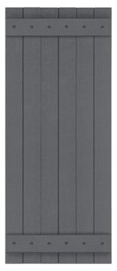 Perfect Shutters 27.25W in. Closed Board-N-Batten Vinyl Shutters modern-window-treatments