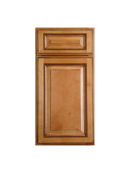 "SANDSTONE ROPE / Assembled Kitchen Cabinets - Full Overlay Door Style - 3/4"" Solid Birch Face-Frame"
