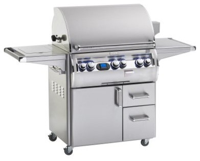 Fire Magic Echelon Diamond E660S Stand Alone Grill with Rotisserie Backburner, S modern-outdoor-grills