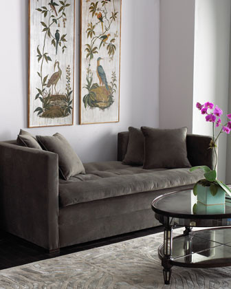 Pewter Settee traditional-indoor-chaise-lounge-chairs