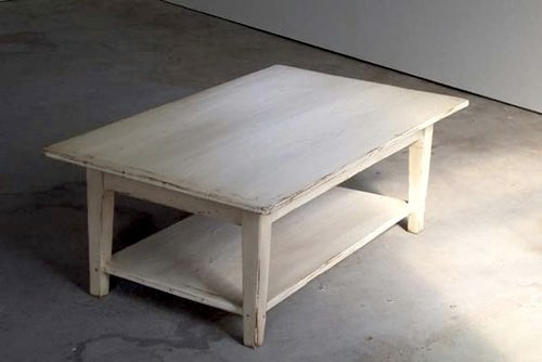 White pine coffee table with tapered legs farmhouse for Pine farmhouse coffee table