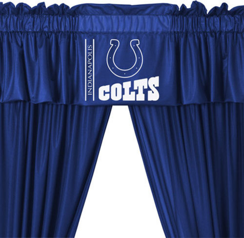 Nfl Indianapolis Colts 5 Piece Long Curtain Drapes Valance