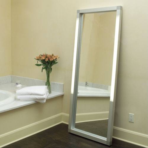 Rezek Lighted Floor Mirror Contemporary Mirrors By Lumens