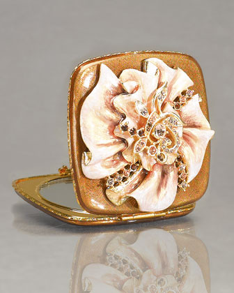 Jay Strongwater Marianne Ruffled Compact traditional-makeup-mirrors