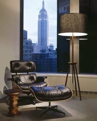 Eames  Walnut Stool modern-footstools-and-ottomans