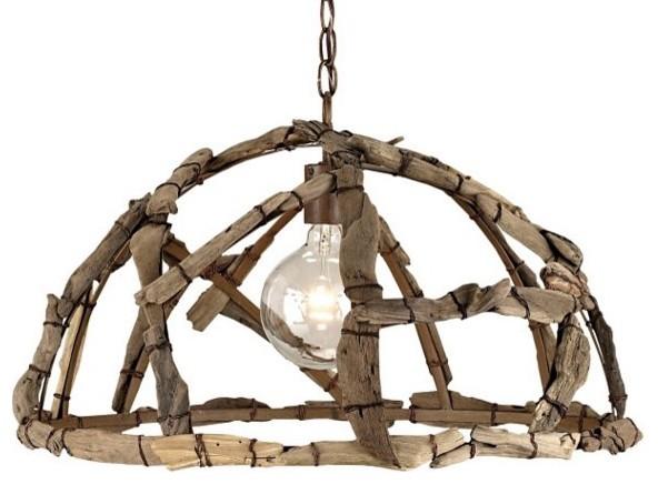 Driftwood Pendant Light eclectic-pendant-lighting