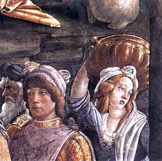 Sandro Botticelli The Trials and Calling of Moses (detail 5) (Cappella Sistina, traditional-artwork