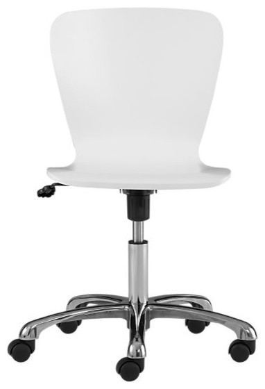 Felix white office chair modern office chairs by crate amp barrel