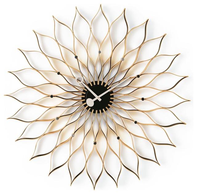 Sunflower Clock - Modern