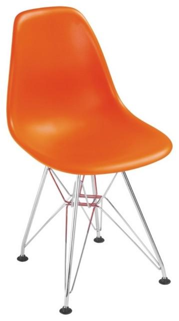 Zuo baby spire orange kids chair contemporary kids for Orange kids chair