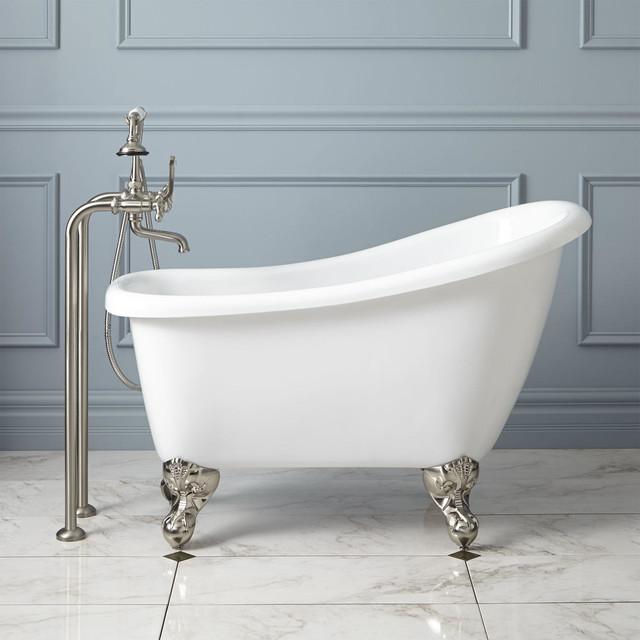 44 Carter Mini Acrylic Clawfoot Tub Contemporary Bathtubs