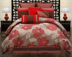 Hallmart Collectibles Joslin Comforter Set Multicolor - 32763 contemporary-bedding