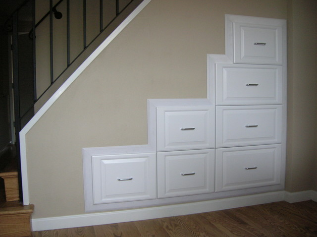drawers under stairs traditional staircase san