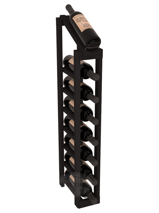 Wine Racks America - 1 Column 8 Row Display Top Kit in Redwood, Black Stain - Make your best vintage the focal point of your cellar or store. The slim design is a perfect fit for almost any space. Our wine cellar kits are constructed to industry-leading standards. You'll be satisfied. We guarantee it. Display top wine racks are perfect for commercial or residential environments.