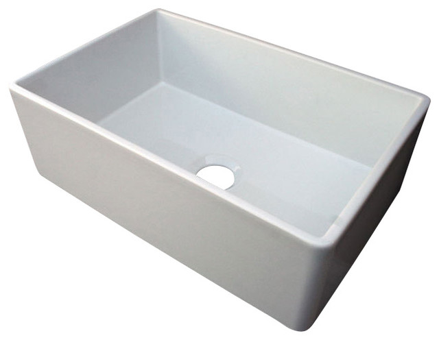 30 White Farmhouse Sink : All Products / Kitchen / Kitchen Sinks and Faucets / Kitchen Sinks