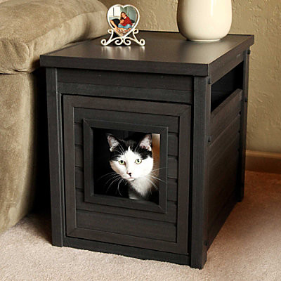 litter box cover end table contemporary nightstands and bedside tables by improvements catalog. Black Bedroom Furniture Sets. Home Design Ideas
