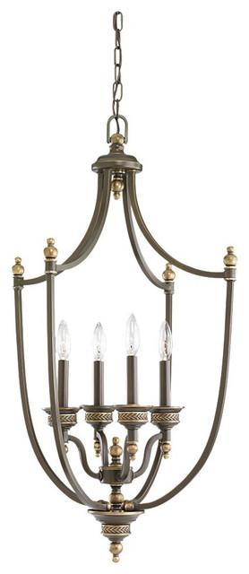 Sea Gull Lighting 51350-708 Laurel Leaf Estate Bronze Pendant traditional-pendant-lighting