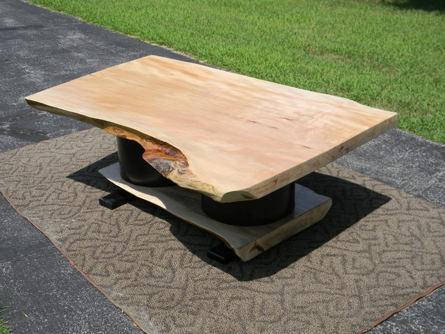 Large Wood Slab Coffee Table - Contemporary - Coffee Tables - other metro - by KnotChiseled